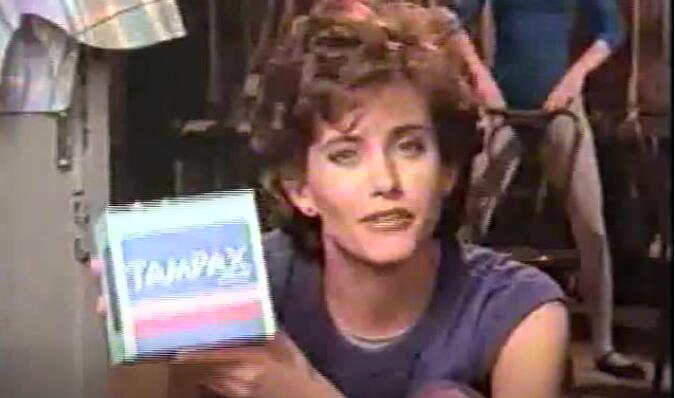 代言广告的是《老友记》中扮演Monica的演员