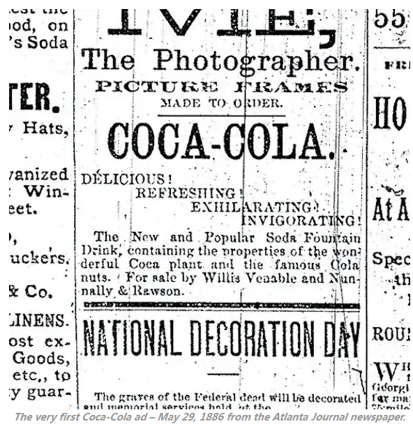 可口可乐百年发展历史-从掺杂药物的饮料到世界品牌